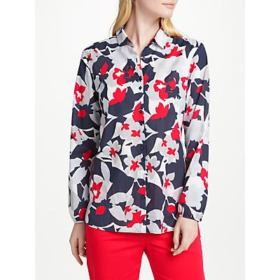 Gerry Weber Long Sleeve Print Shirt, White/Blue