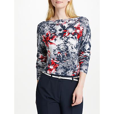 Gerry Weber Long Sleeve Print Knit, Blue/Red