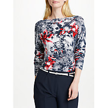 Buy Gerry Weber Long Sleeve Print Knit, Blue/Red Online at johnlewis.com