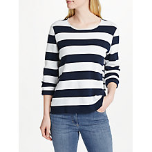 Buy Gerry Weber Long Sleeve Wide Stripe Jumper, Navy/White Online at johnlewis.com