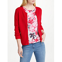 Buy Gerry Weber Zip Through Cardigan, Chilli Online at johnlewis.com