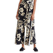 Buy Polo Ralph Lauren Adla Wide Leg Trousers, Black/Multi Online at johnlewis.com