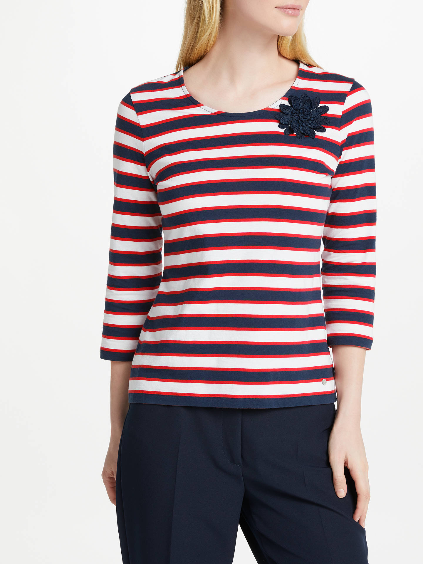 8b246a5361 BuyGerry Weber 3 4 Sleeve Stripe T-Shirt