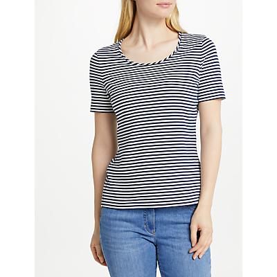 Gerry Weber Stripe T-Shirt, Navy/White
