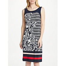 Buy Gerry Weber Sleeveless Print Jersey Dress, Navy Online at johnlewis.com