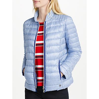 Gerry Weber Padded Stripe Jacket, Royal Blue/White