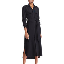 Buy Polo Ralph Lauren Silk Shirt Dress, Polo Black Online at johnlewis.com
