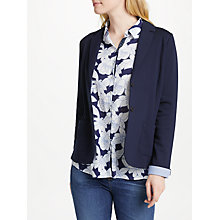 Buy Gerry Weber Single Breasted Jersey Jacket, Dress Blue Online at johnlewis.com