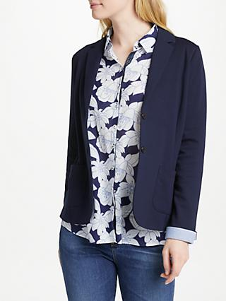 Gerry Weber Single Breasted Jersey Jacket, Dress Blue
