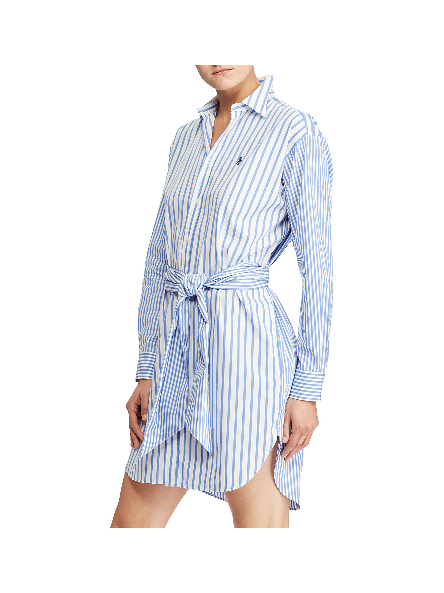 Lauren DressBluewhite Ralph Polo John Striped Shirt At Cotton eEbDH2I9YW