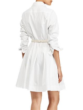 Polo Ralph Lauren Charlotte Oxford Cotton Shirt Dress, White at ...