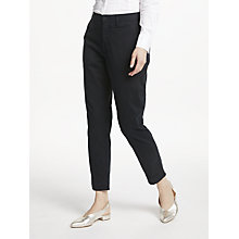 Buy Polo Ralph Lauren Brooke Stretch Twill Cropped Trousers, Black Online at johnlewis.com