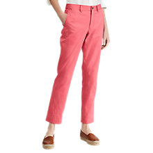 Buy Polo Ralph Lauren Brooke Stretch Twill Cropped Trousers, Adirondack Berry Online at johnlewis.com