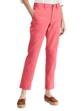 Polo Ralph Lauren Brooke Stretch Twill Cropped Trousers, Adirondack Berry