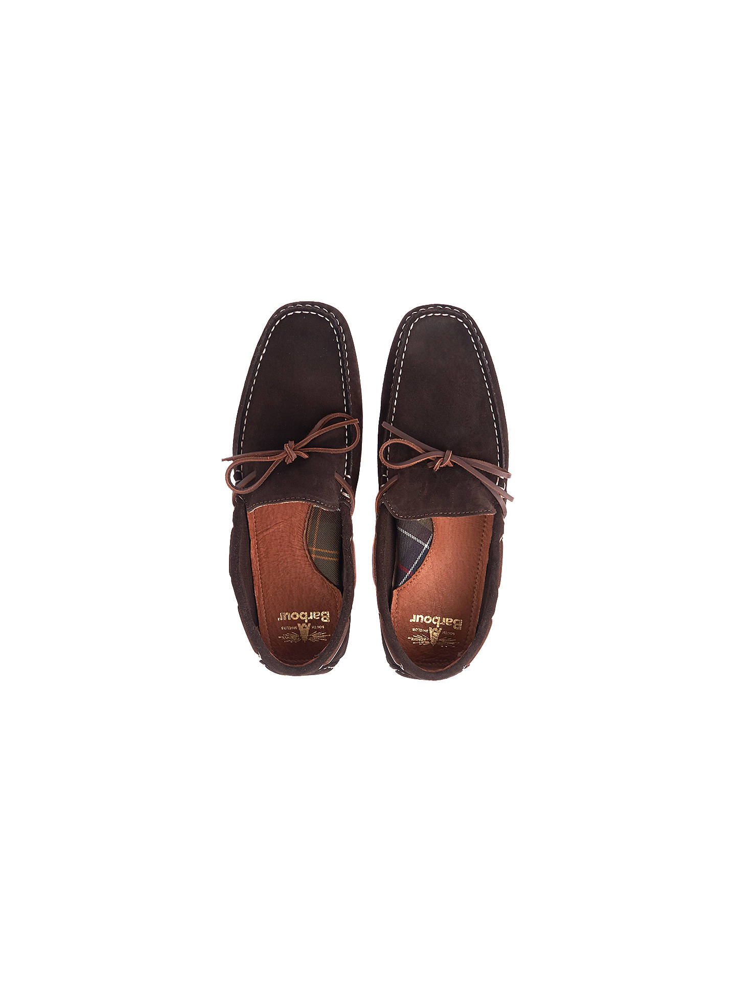 BuyBarbour Eldon Suede Penny Driver Loafers, Dark Brown, 7 Online at johnlewis.com