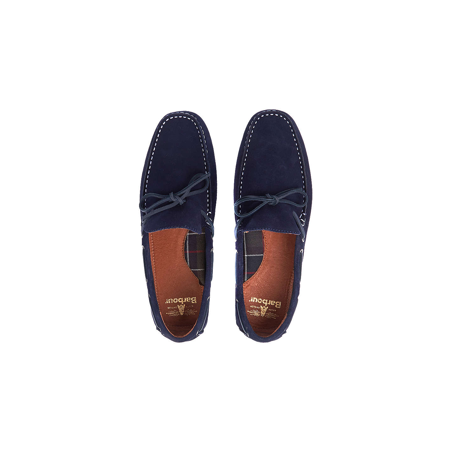 BuyBarbour Eldon Suede Penny Driver Loafers, Navy, 9 Online at johnlewis.com