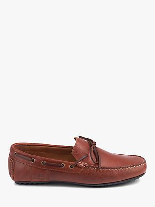 Barbour Eldon Suede Penny Driver Loafers, Tan