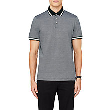 Buy Ted Baker Poodal Textured Polo Shirt, Dark Green Online at johnlewis.com