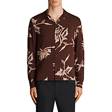 Buy AllSaints Tomales Long Sleeve Floral Shirt, Burnt Red Online at johnlewis.com