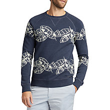 Buy BOSS  Woohoo Embroidered Sweatshirt, Dark Blue Online at johnlewis.com