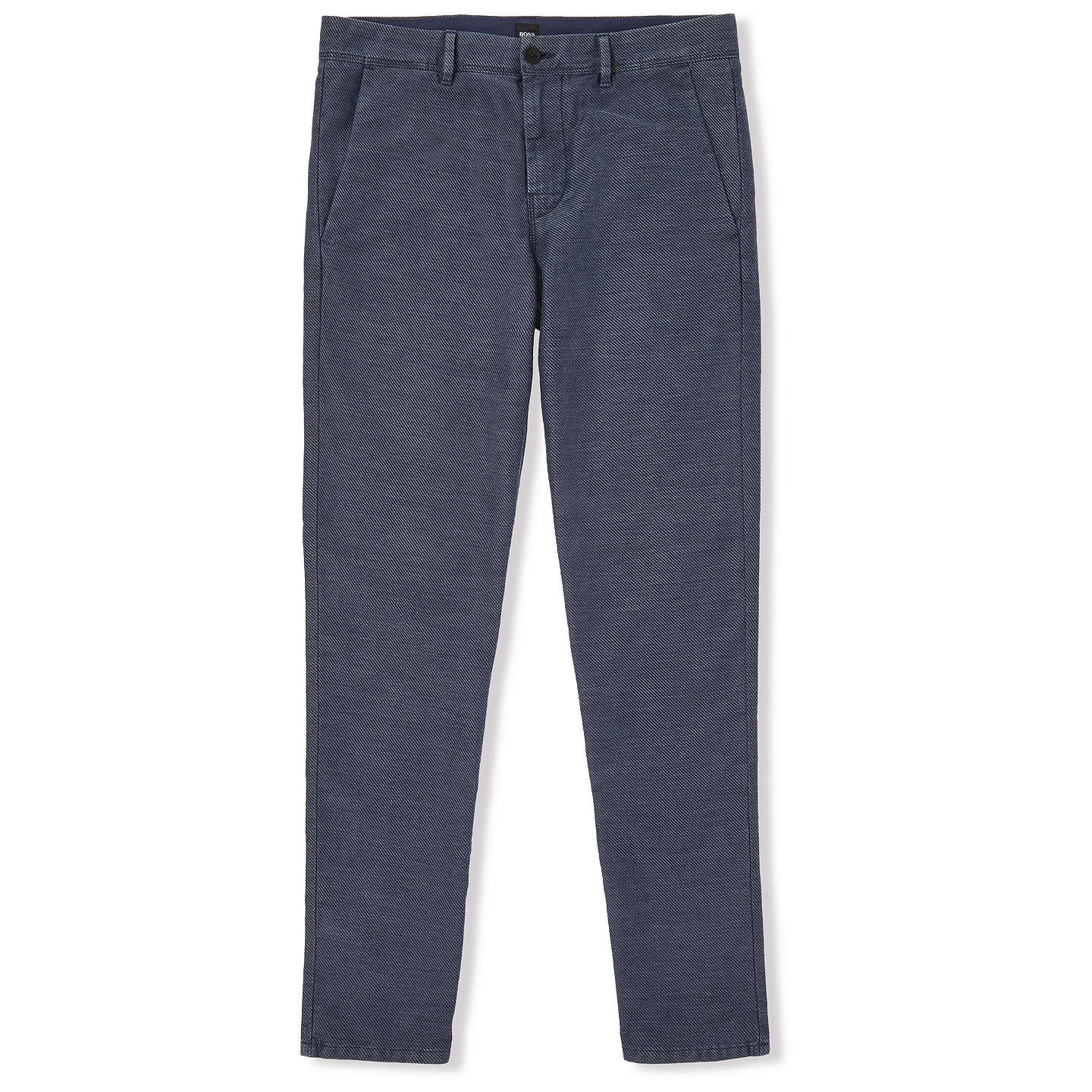 BuyBOSS Stapered Casual Trousers, Dark Blue, 30R Online at johnlewis.com