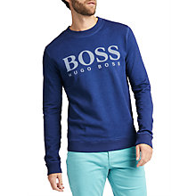 Buy BOSS Wallker Long Sleeve Branded Sweatshirt Online at johnlewis.com
