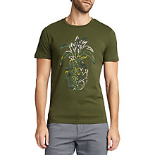 Buy BOSS Tauno T-Shirt, Dark Green Online at johnlewis.com