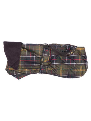 Buy Barbour Waterproof Pack Away Dog Coat, Tartan, XS Online at johnlewis.com