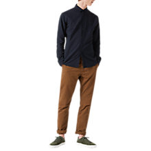 Buy Jigsaw Garment Dye Mock Placket Shirt Online at johnlewis.com