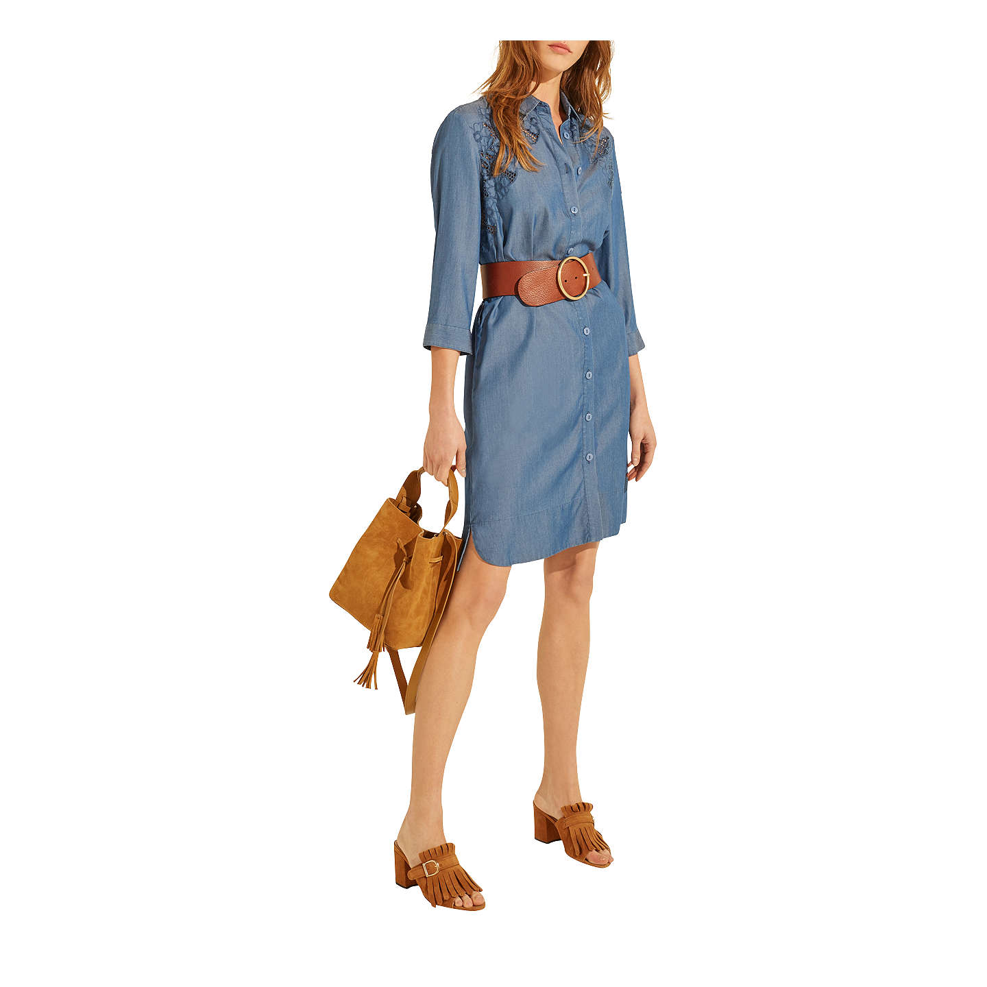 BuyGerard Darel Dissia Dress, Blue, 8 Online at johnlewis.com