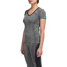 Buy Whistles Short Sleeve Sports Top, Grey Online at johnlewis.com