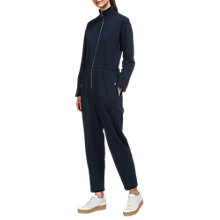 Buy Whistles Ring Puller Jumpsuit, Navy Online at johnlewis.com