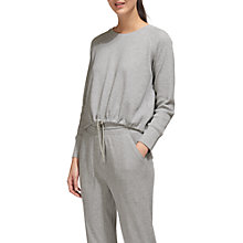 Buy Whistles Waffle Lounge Drawstring Top, Grey Marl Online at johnlewis.com