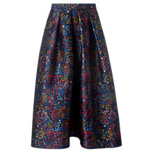 Buy L.K.Bennett Aurorie Long Length Floral Skirt, Multi Online at johnlewis.com