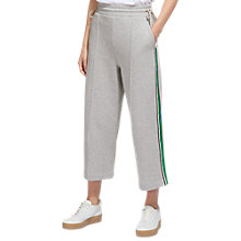 Buy Whistles Tie Side Stripe Sweat Pants, Grey Marl Online at johnlewis.com