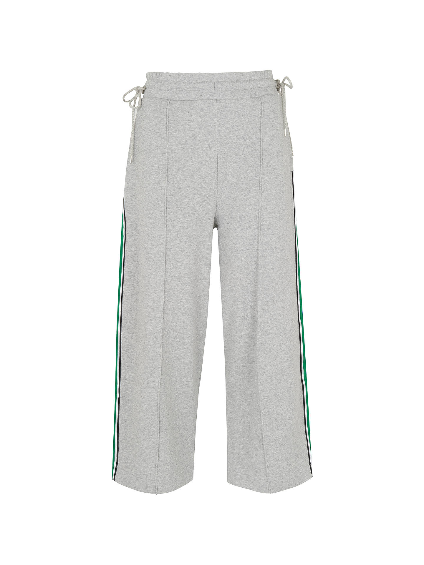 BuyWhistles Tie Side Stripe Sweat Pants, Grey Marl, XS Online at johnlewis.com