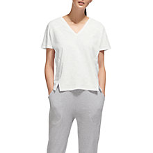 Buy Whistles Lace Up Back Relaxed T-Shirt Online at johnlewis.com