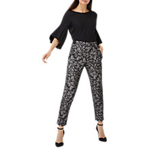 Buy Coast Russo Lace Trousers, Black Online at johnlewis.com