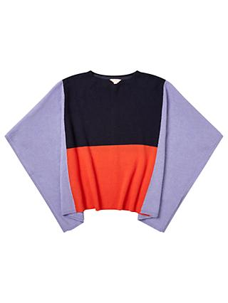 Jigsaw Girls' Colour Block Poncho