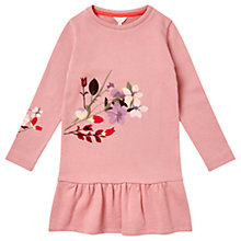 Buy Jigsaw Girls' Embroidered Jumper Dress, Pink Online at johnlewis.com