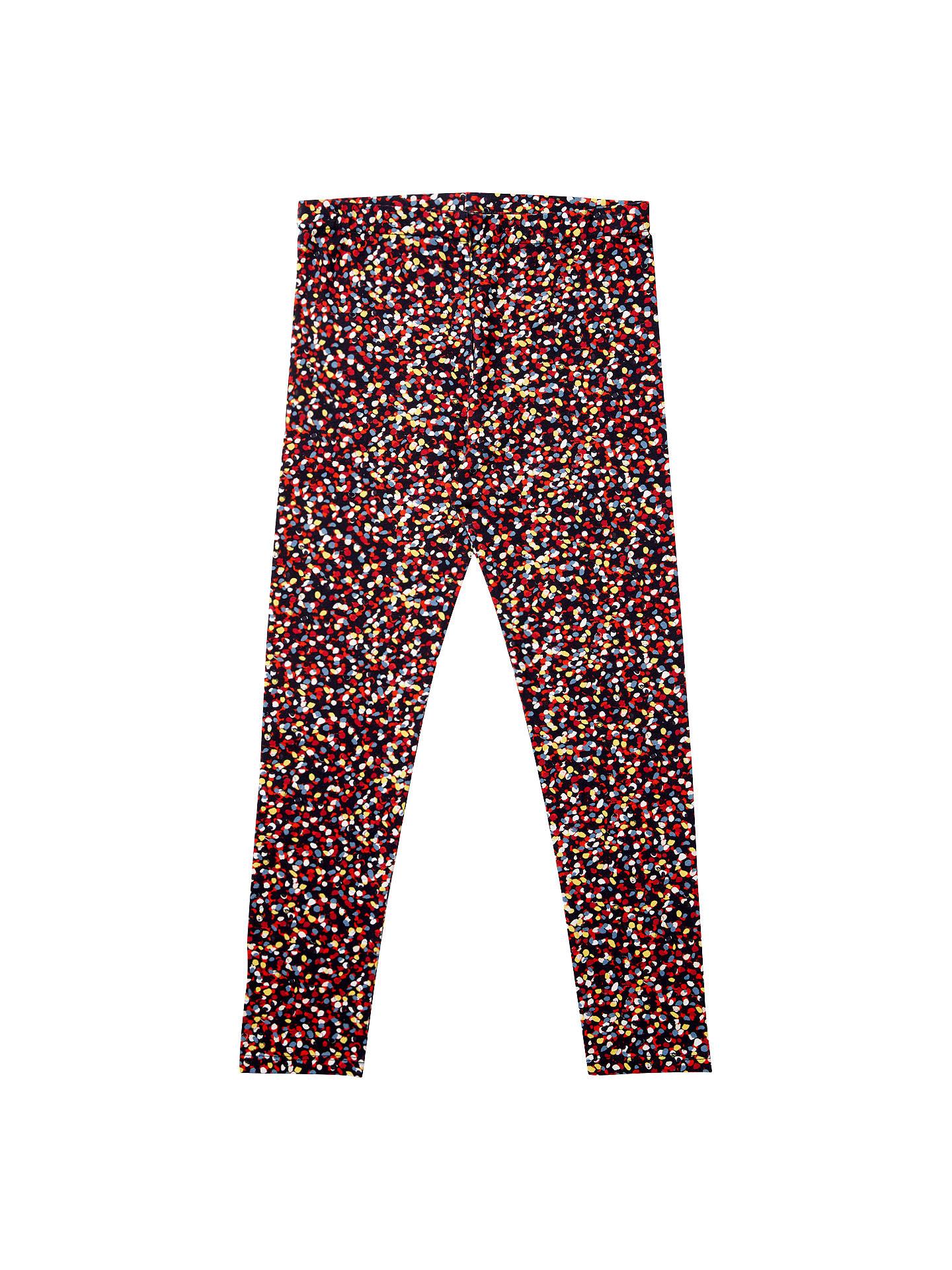 Jigsaw Confetti Print Leggings Girls New Blue Navy