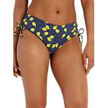 Buy White Stuff Lemon Spot Tankini Bottoms, Rockpool Blue/Multi Online at johnlewis.com