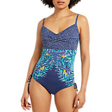 Buy White Stuff Tropic Leaf Swimsuit, Rockpool Blue/Multi Online at johnlewis.com