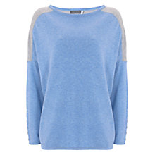 Buy Mint Velvet Block Colour Curved Hem Jumper, Bluebell/Grey Online at johnlewis.com