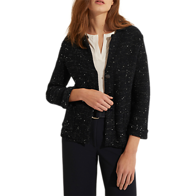 Gerard Darel Felin Sequin Cardigan, Midnight