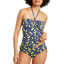 Buy White Stuff Lemon Spot Tankini Top, Rockpool Blue Print Online at johnlewis.com