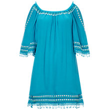 Buy White Stuff Lilia Off Shoulder Dress, Aqua Online at johnlewis.com