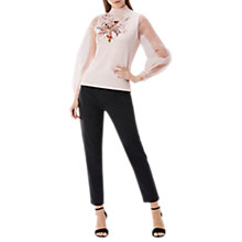 Buy Coast Mollie Organza Top, Blush Online at johnlewis.com