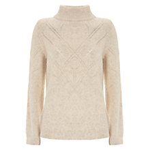 Buy Mint Velvet Pointelle Stitch Jumper, Chalk Online at johnlewis.com