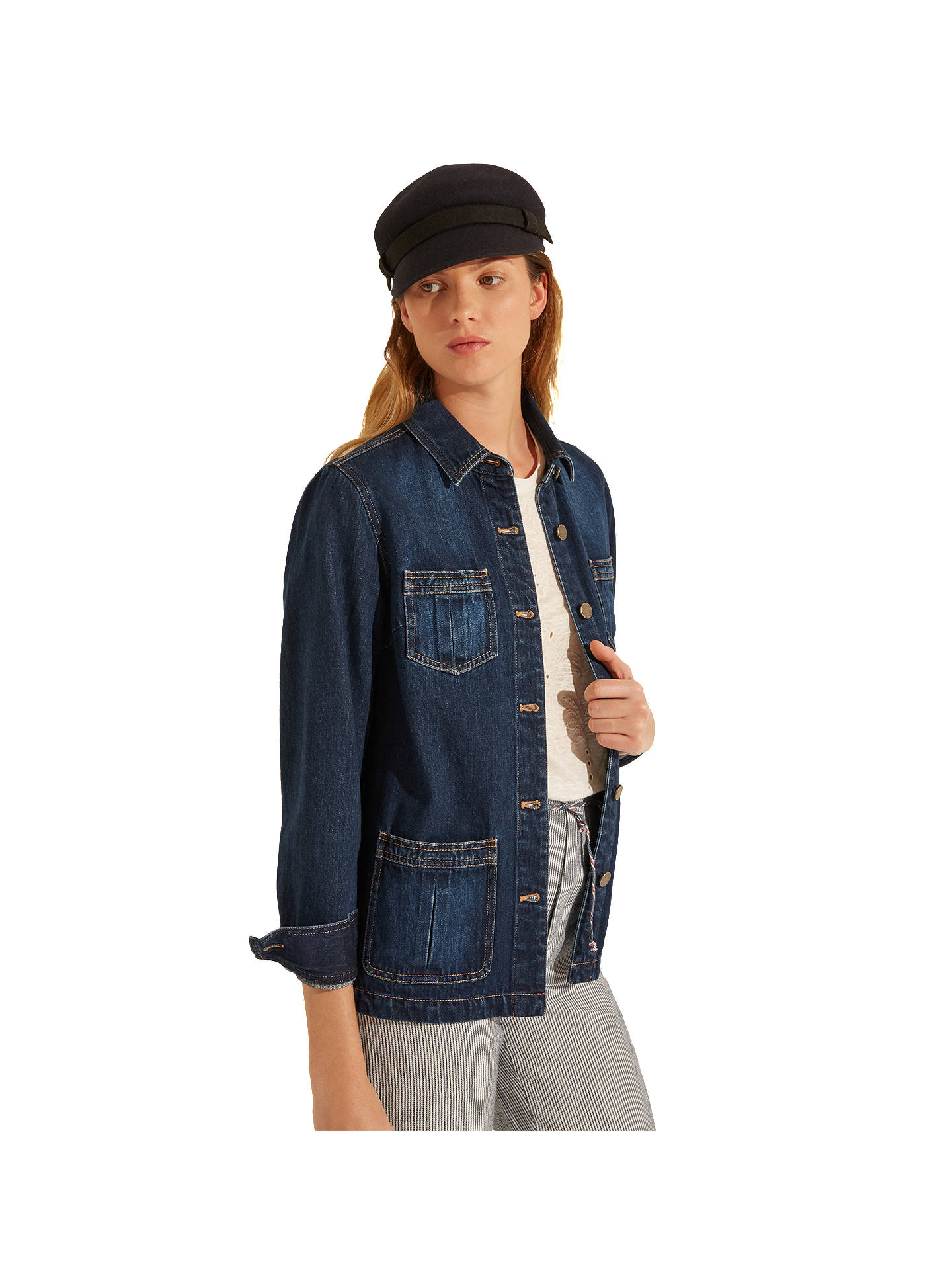 Buy Gerard Darel Robin Jacket, Blue, 6 Online at johnlewis.com